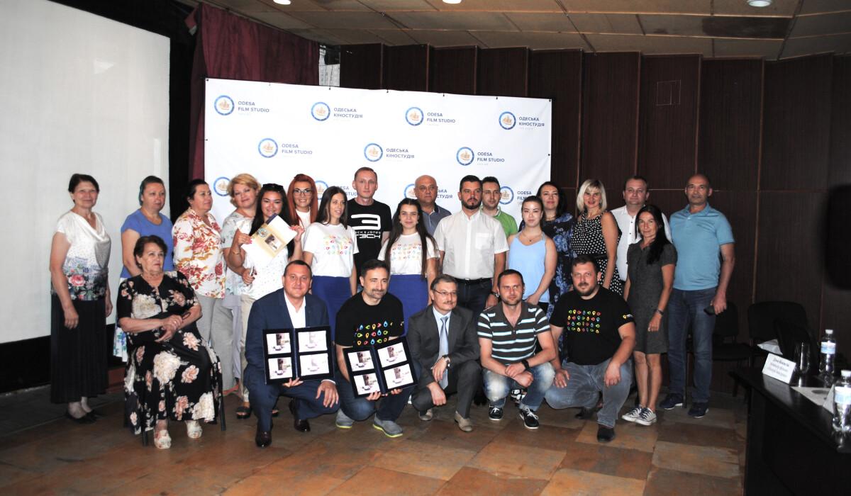 19 июля состоялось спецгашение почтового блока, выпущенных Укрпочтой к 100-летию Одесской киностудии