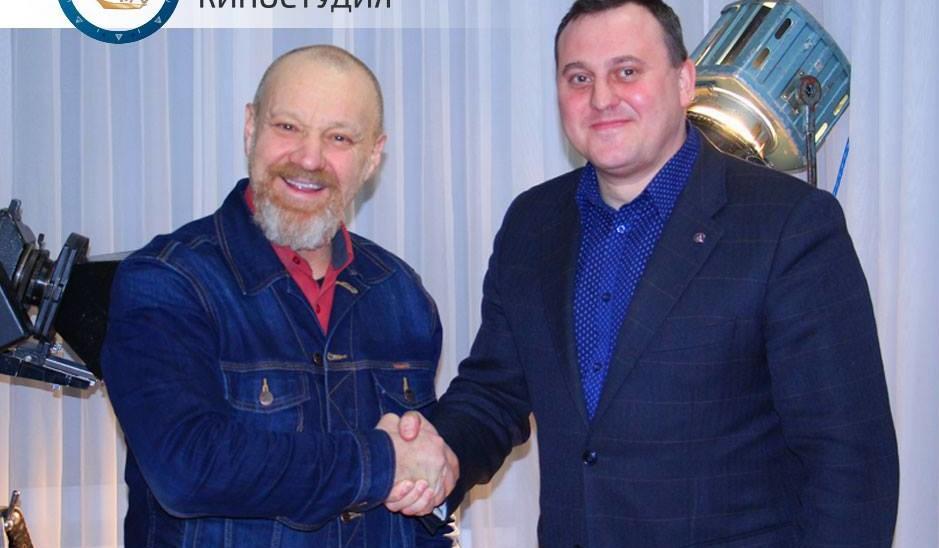 Георгій Делієв завітав  у гості до Одеської кіностудії